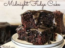 midnight fudge cake oh bite it