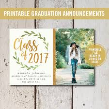 college grad announcements college graduation invitation printable high school graduation