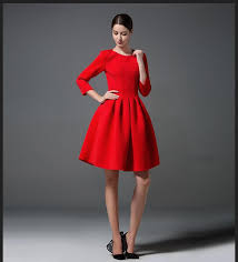 new spring autumn european simple dress three quarter sleeve