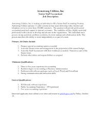 cover letter staff accountant job description tax staff accountant