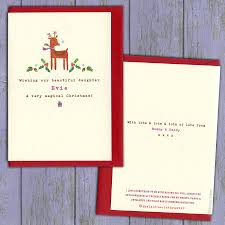 baby u0027s first christmas card or choose your wording by the little