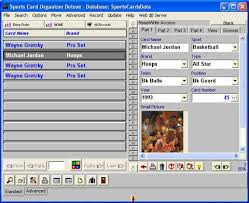 card software sports card organizer deluxe software for sport