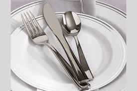 plastic cutlery plastic cutlery that looks like stainless steel