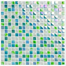 blue crystal glass tile backsplash ideas kitchen white glass
