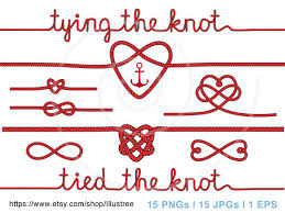 knot wedding wedding clipart tying the knot anchor digital clip