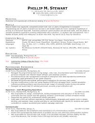 Army Resume Example by Polygraph Examiner Cover Letter