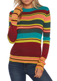 free people show off your stripes crew neck top belk