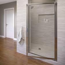 Shower Doors Pivot Basco Deluxe 32 7 8 In X 67 In Framed Pivot Shower Door In