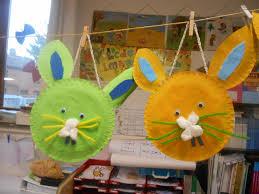 pinterest bricolage enfant bricolage de pâques panier lapin avec assiette en carton pâques