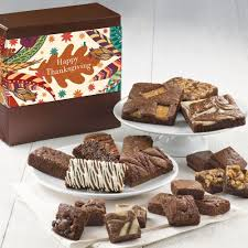 thanksgiving medley gourmet brownie gift baskets delivered
