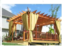 outdoor curtains for pergola fast and easy diy freestanding