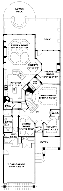 house narrow lot ranch house plans