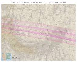Idaho Montana Map by Nasa Total Solar Eclipse Of 2017 August 21