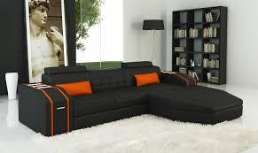 Orange Leather Sofa Designer Couches Home Decor