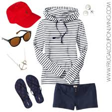 frugal fashion friday nautical red white and blue