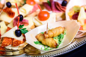 healthy canapes dinner home made canapes small sandwiches appetizers stock photo image