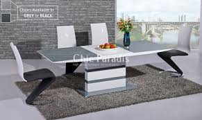 Gloss Dining Tables Black Gloss Dining Table Extendable With Regard To Present House