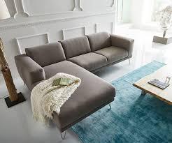 Wohnzimmer Ideen Ecksofa Ecksofa Lordina 260x185 Grau Ottomane Links Premium Möbel Sofas