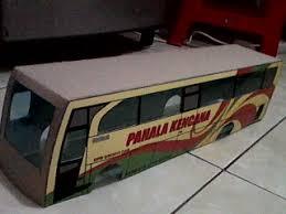 membuat miniatur mobil dari kardus miniatur bus laman 4 reza miniatur bis karton