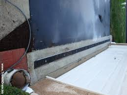 driveway drain installation installed driveway drain new place