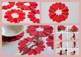 Valentines Day Table Decor Table Decoration Ideas Valentines Day Napkins Flowers Tutorial