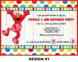 elmo birthday invitations invitations templates