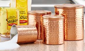 copper canisters sets old dutch 4 piece hammered antique copper