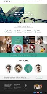 varden a free psd website template lunar templates