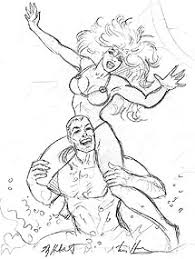 rogue u0026 gambit marvel swimsuit cover sketch marvel