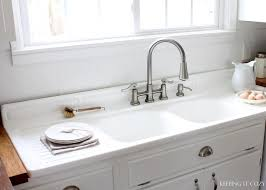 Kitchen Sink With Built In Drainboard by Emily U0026 Drew Create A Charming 1940s Style Kitchen On A Budget