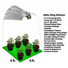 250 watt hid grow lights yield lab 600 watt wing reflector hps and mh grow light kit grow