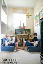 nook house diy wooden crate bookshelf making the perfect kids reading nook