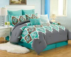 Grey California King Comforter Turquoise And Brown Bedding Queen Ktactical Decoration