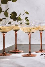 vintage cocktail set set of 4 vintage champagne saucers bhs