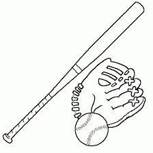 baseball bat coloring pages sport pictures picture tags drawing baseball glove bat ball