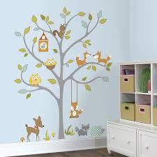 Nursery Tree Wall Decal by Roommates Woodland Fox And Friends Tree Peel U0026 Stick Wall Decals