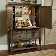 Mirrored Bar Cabinet American Drew Park Studio 2 Door Mirrored Back Bar Cabinet In