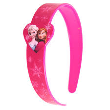 pink headband disney plastic printed wide headband with bow sign