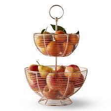 tiered fruit basket copper wire fruit basket williams sonoma