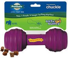 premier busy buddy chuckle dog toy