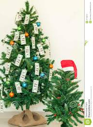 christmas tree decorated with dollars notes stock photo image