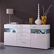 sideboard esszimmer sideboard wohnzimmer esszimmer schrank weiß hochglanz mit led ebay