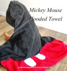 mickey mouse hooded towel step by step tutorial great present
