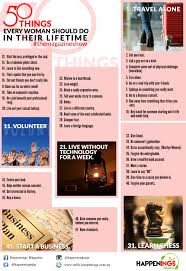 Things Every House Should Have 50 Things Every Woman Should Do In Their Lifetime Online
