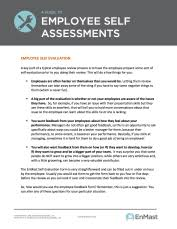 a guide to employee evaluations self assessment tool