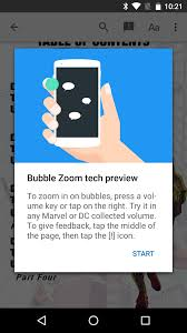 google introduces bubble zoom preview for an easier comic book