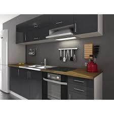 solde cuisine cuisine complète pas cher cdiscount arty cuisine laqué gris 240cm