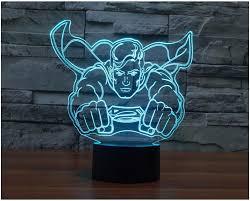 Night Light Kids Room by Super Man Model Toy Avengers Superman 3d Touch Night Light