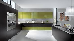 Grey And Green Kitchen Classy Modern Kitchen Offers Refined Revolutionary Space Options