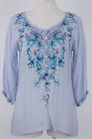 periwinkle blouse vogue johnny was blue moon blouse